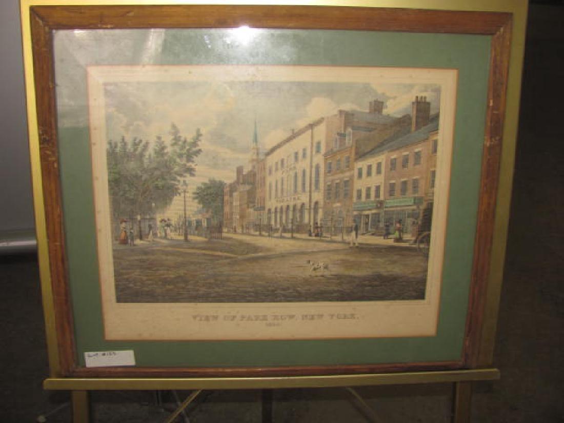 Park Row NY 1830 Litho
