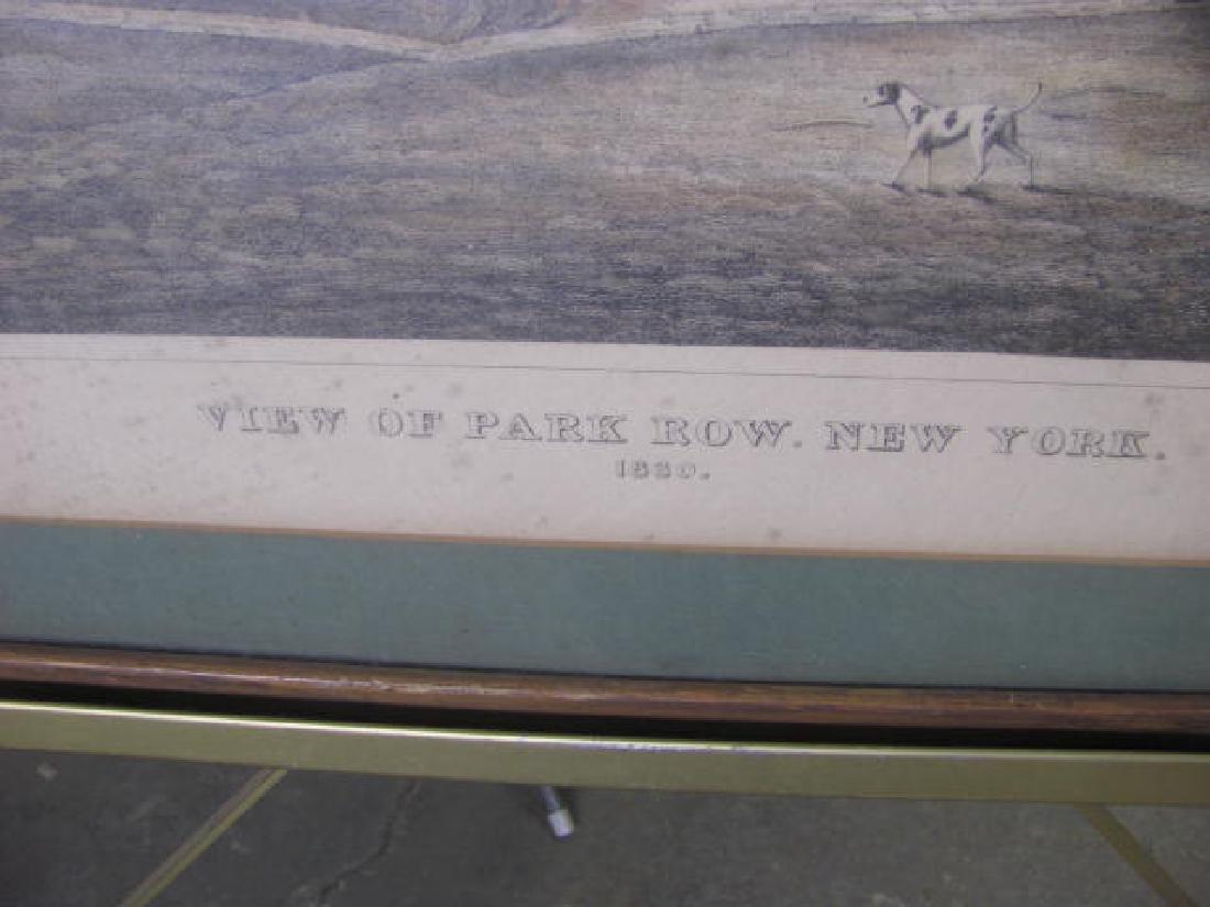 Park Row NY 1830 Litho - 2