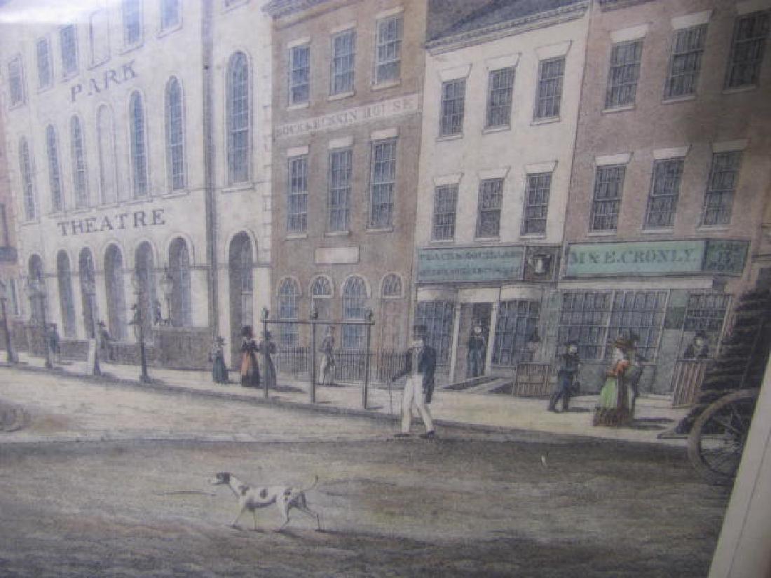 Park Row NY 1830 Litho - 3