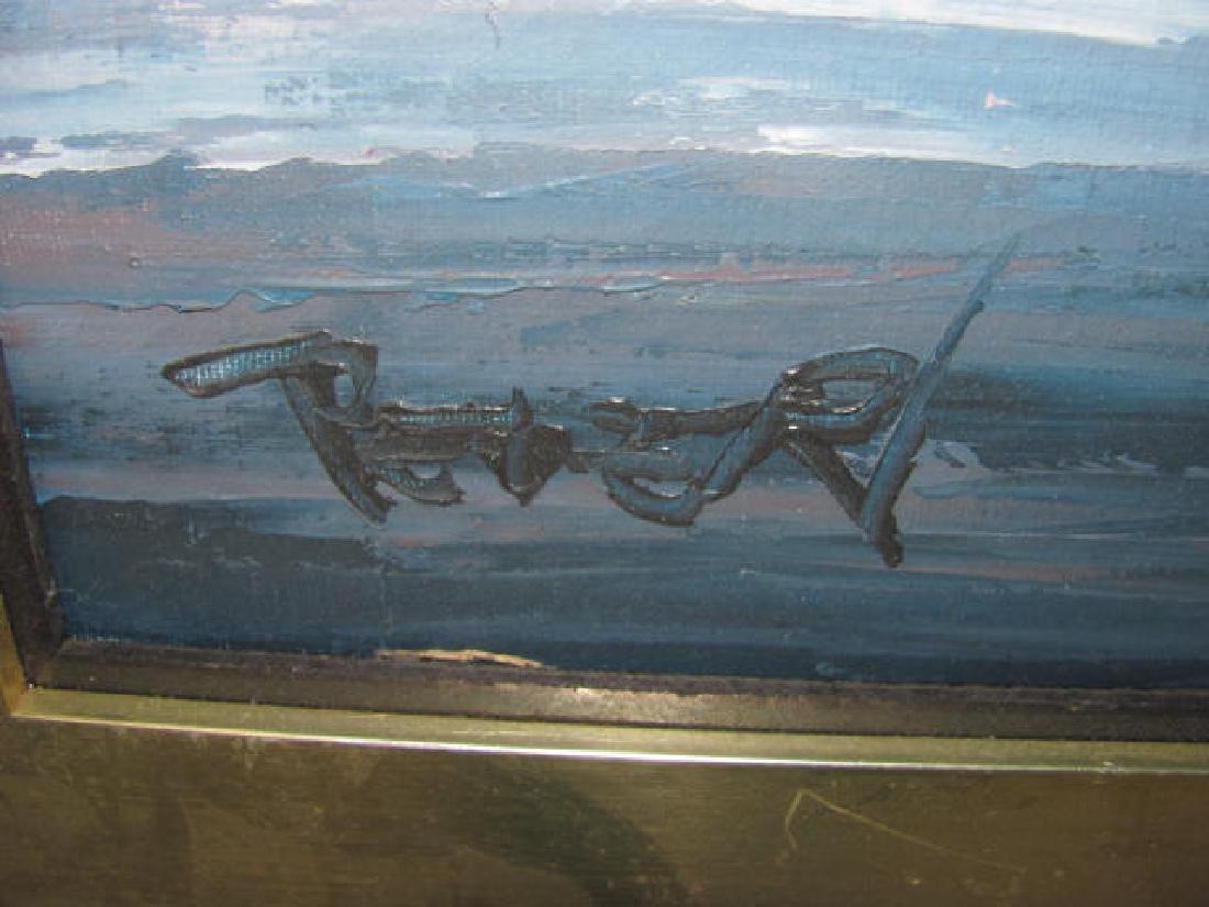 Cityscape Bridge Oil on Canvas - 2