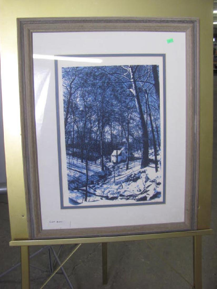 Country Winter scene Print