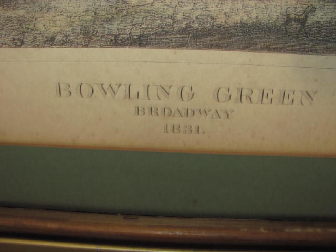 Bowling Green Broadway Print 1831 - 3