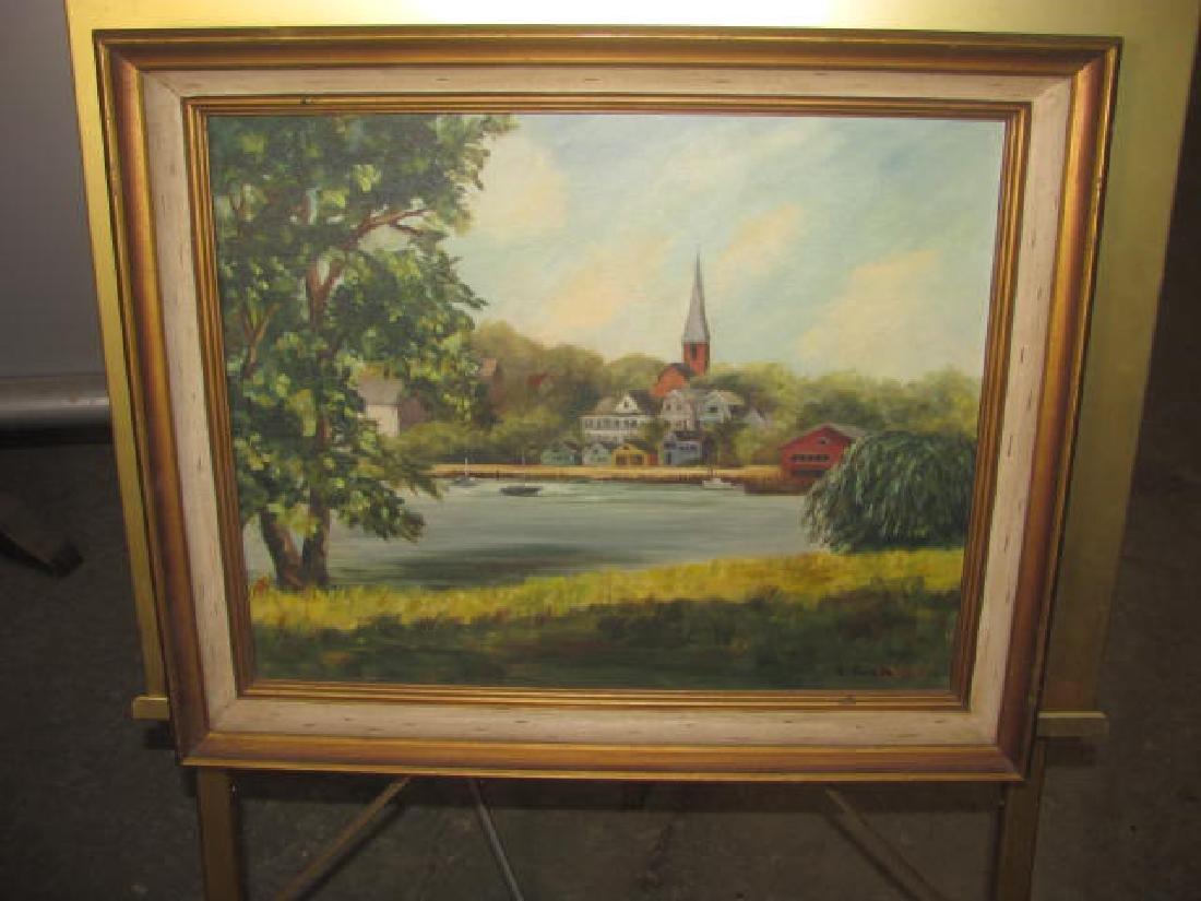 S. Geisler Oil on Canvas Landscape