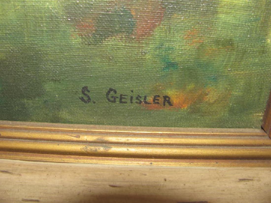 S. Geisler Oil on Canvas Landscape - 2