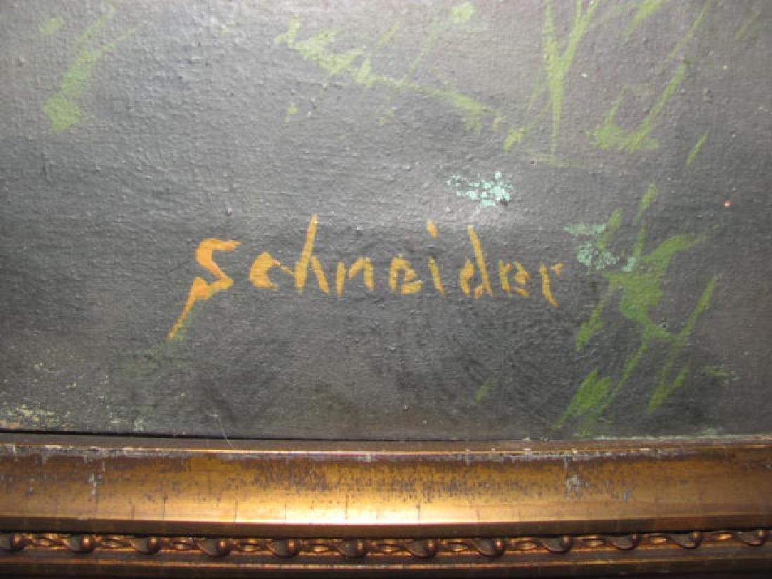 Oil on Canvas Schneider Hudson River - 3