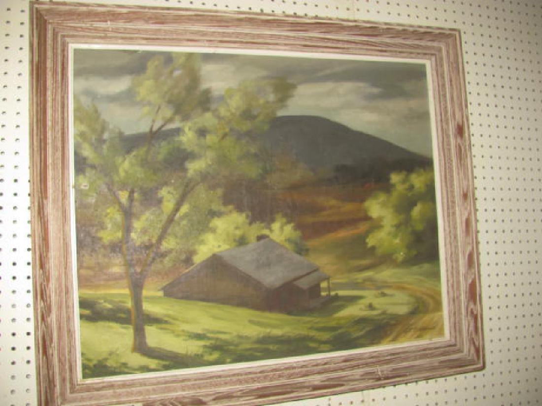 G.F Bushmann Country Landscape Oil Painting
