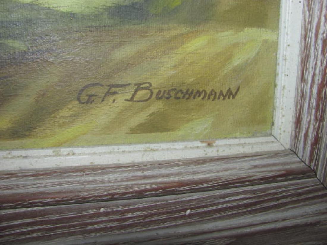 G.F Bushmann Country Landscape Oil Painting - 2