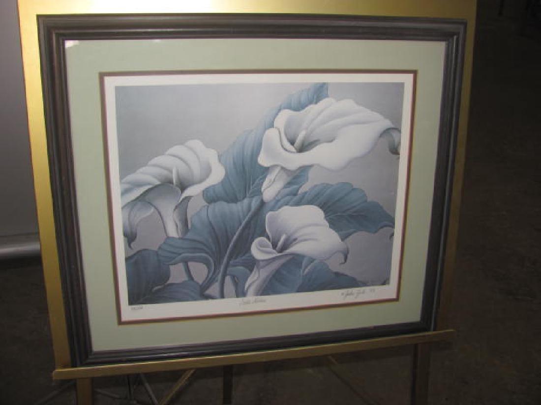 John Zak Culla Lillies Print Signed