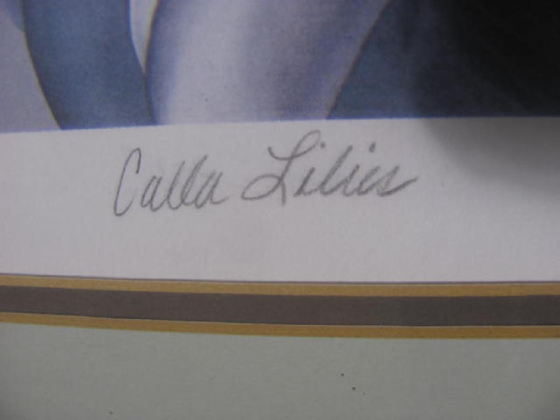 John Zak Culla Lillies Print Signed - 3