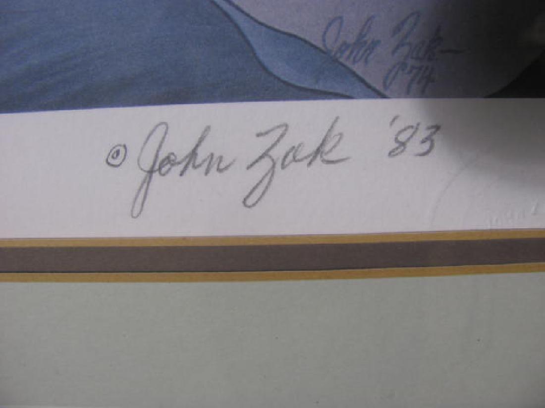 John Zak Culla Lillies Print Signed - 4