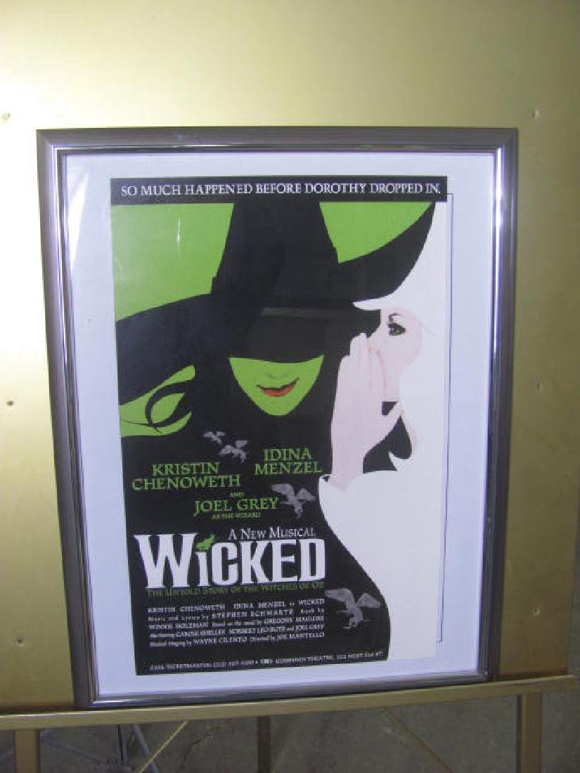 Wicked Musical Gershwin Theatre Poster