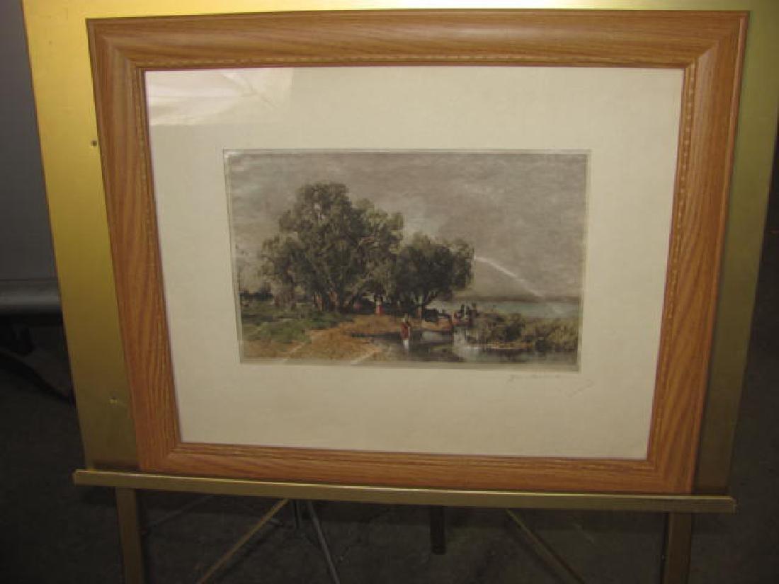 Signed Landscape Waterfront Print