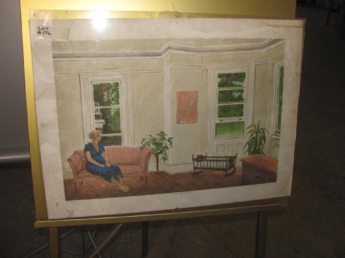 Interior w/ Cradle Signed Print