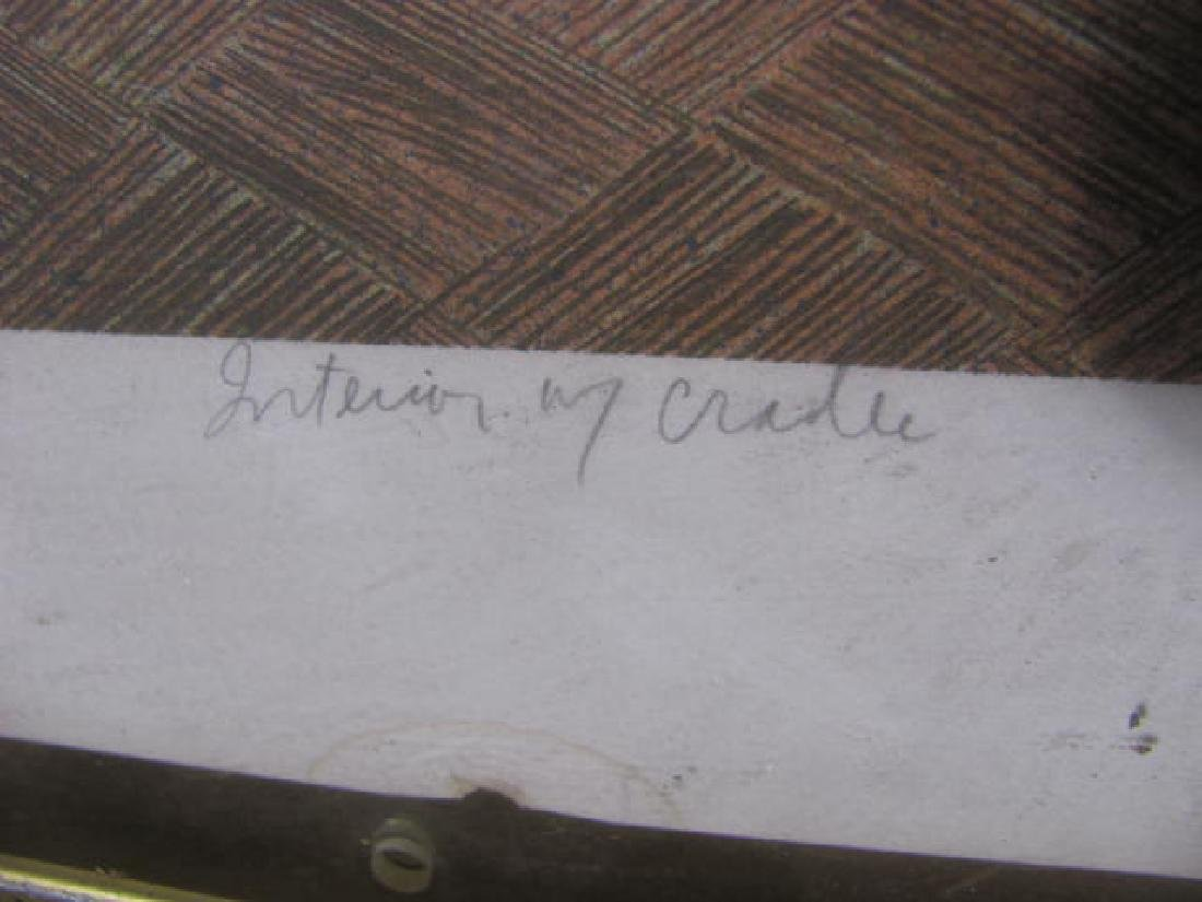 Interior w/ Cradle Signed Print - 3