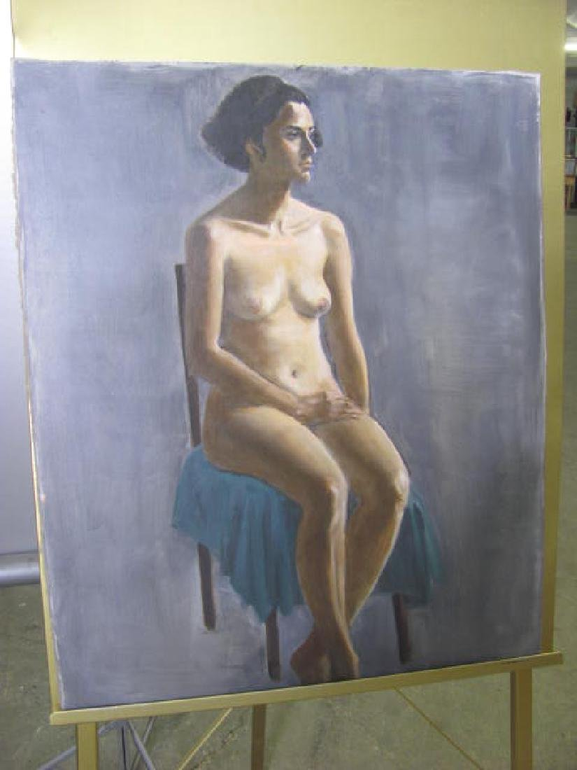 Eliz. Widmayer Signed Nude Portrait