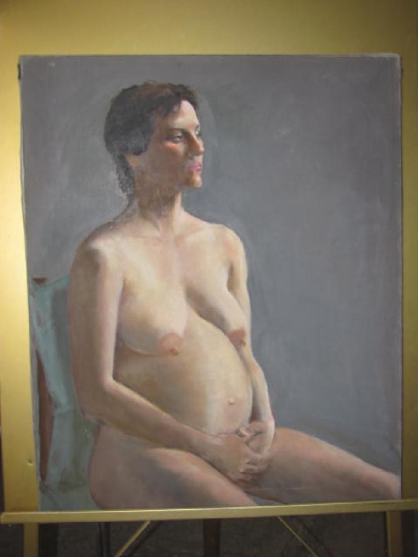 Elizabeth Widmayer Signed Nude Portrait