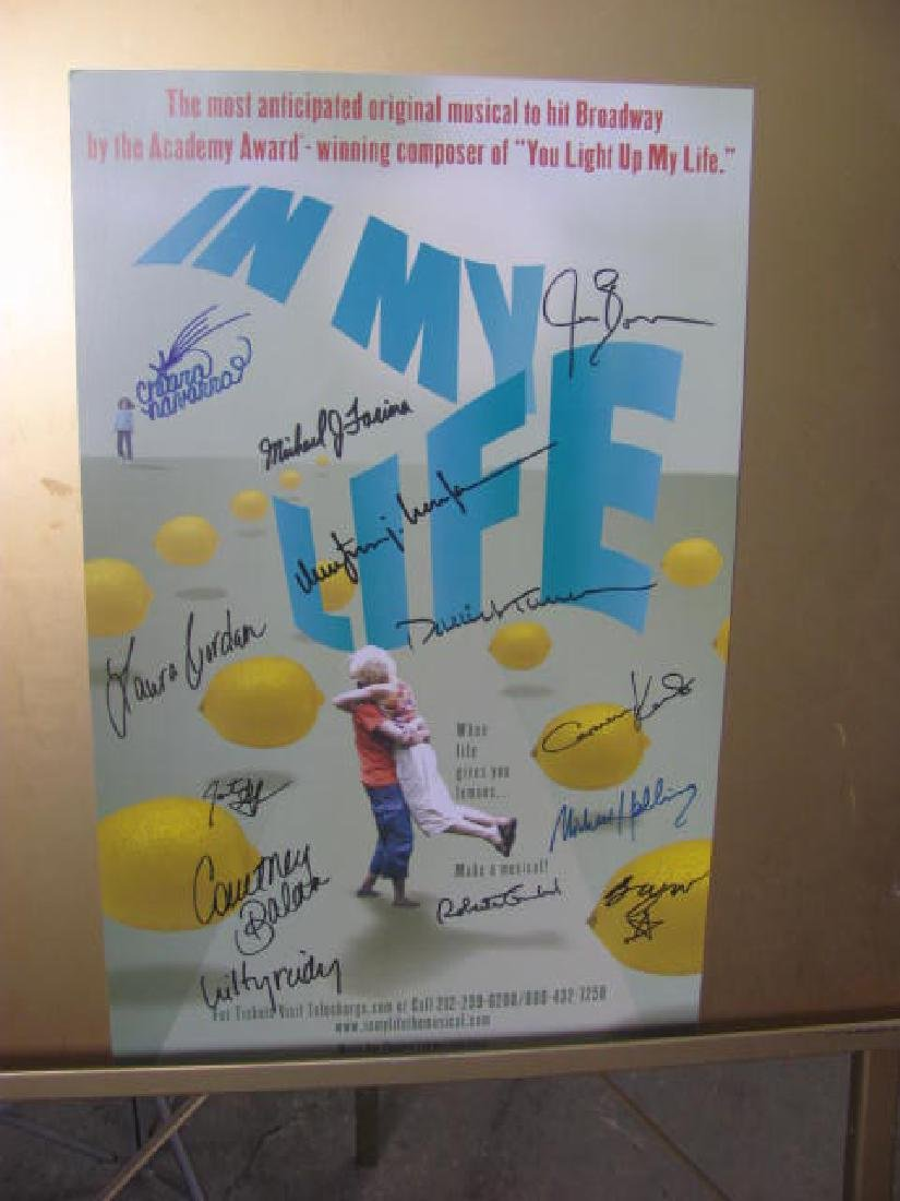 In My Life Broadway Musical Poster Signed
