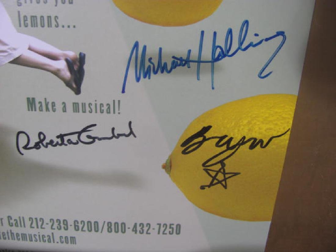 In My Life Broadway Musical Poster Signed - 6