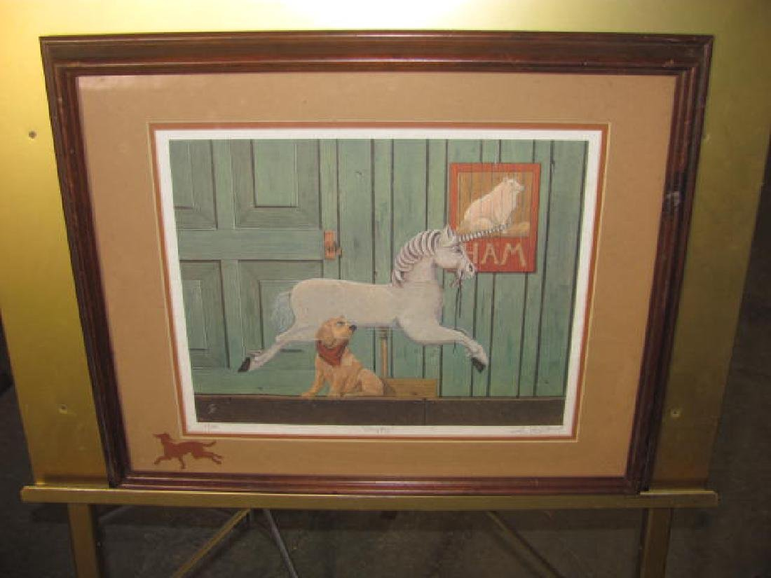 Sey Gelfand Print Happy Signed