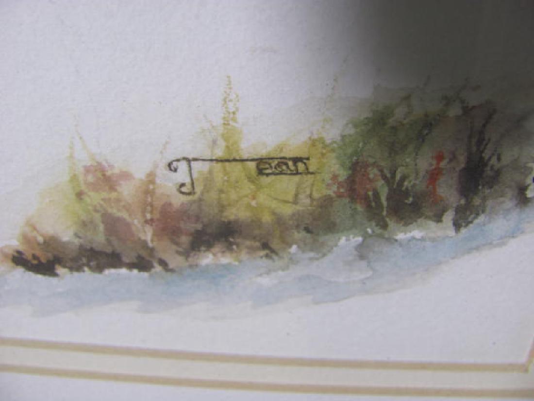 Winter Hunting Scene Watercolor - 2
