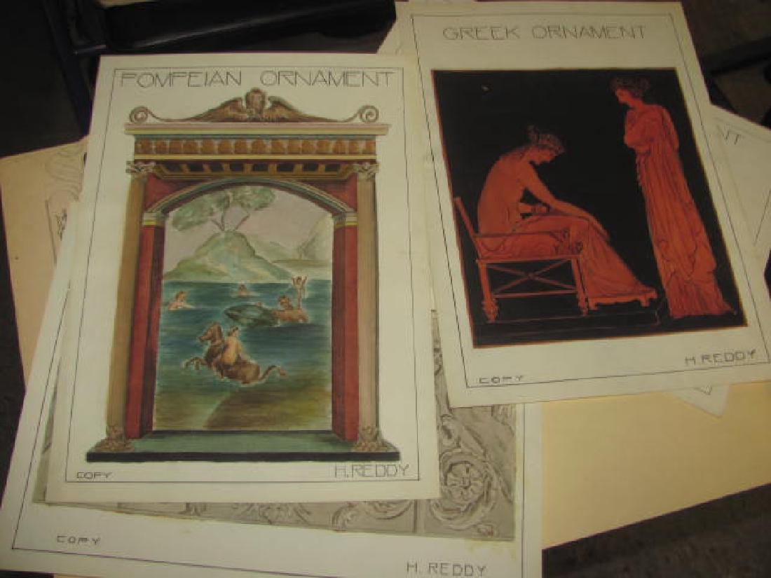 H Reddy Watercolor Folder Lot - 3