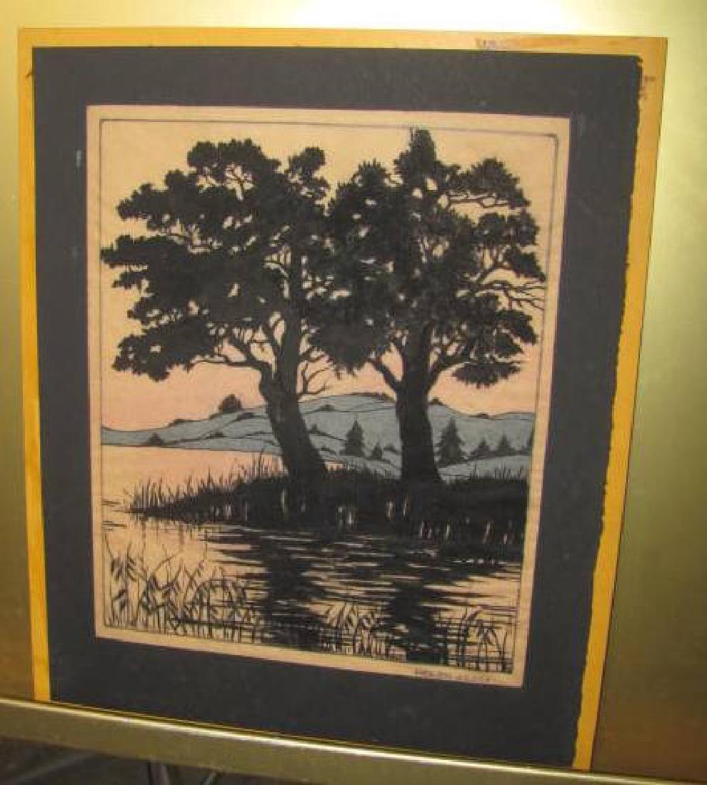 Helen Reddy Watercolor Tree Silouette