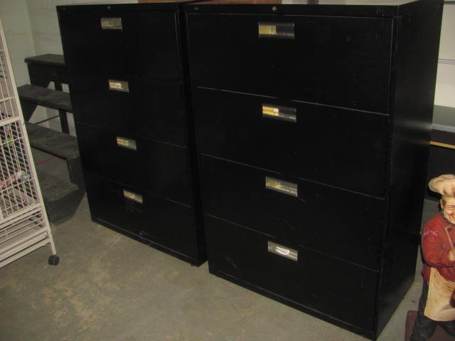(2) 4 Drawer File Cabinets