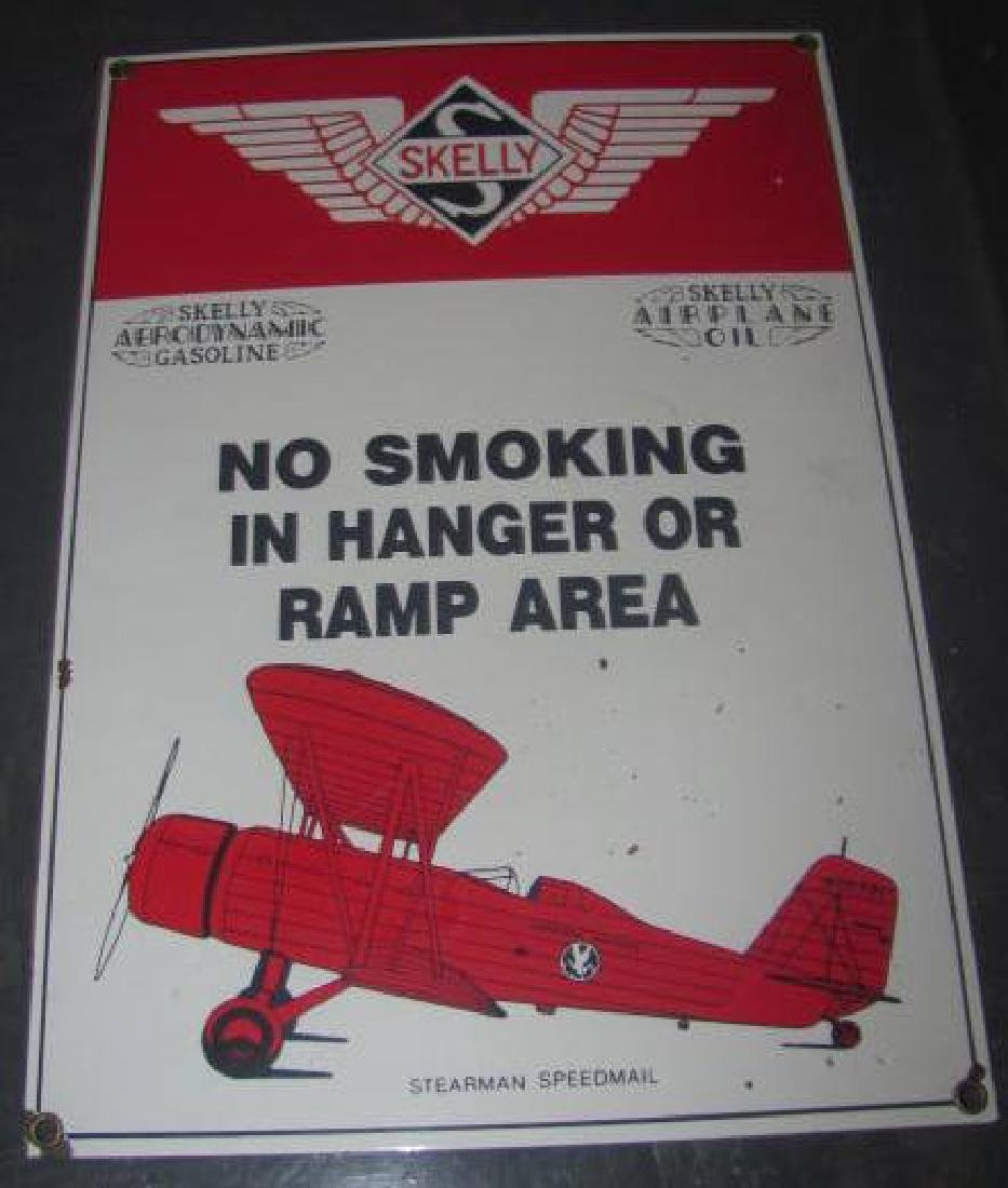 Skelly Airplane Oil Sign