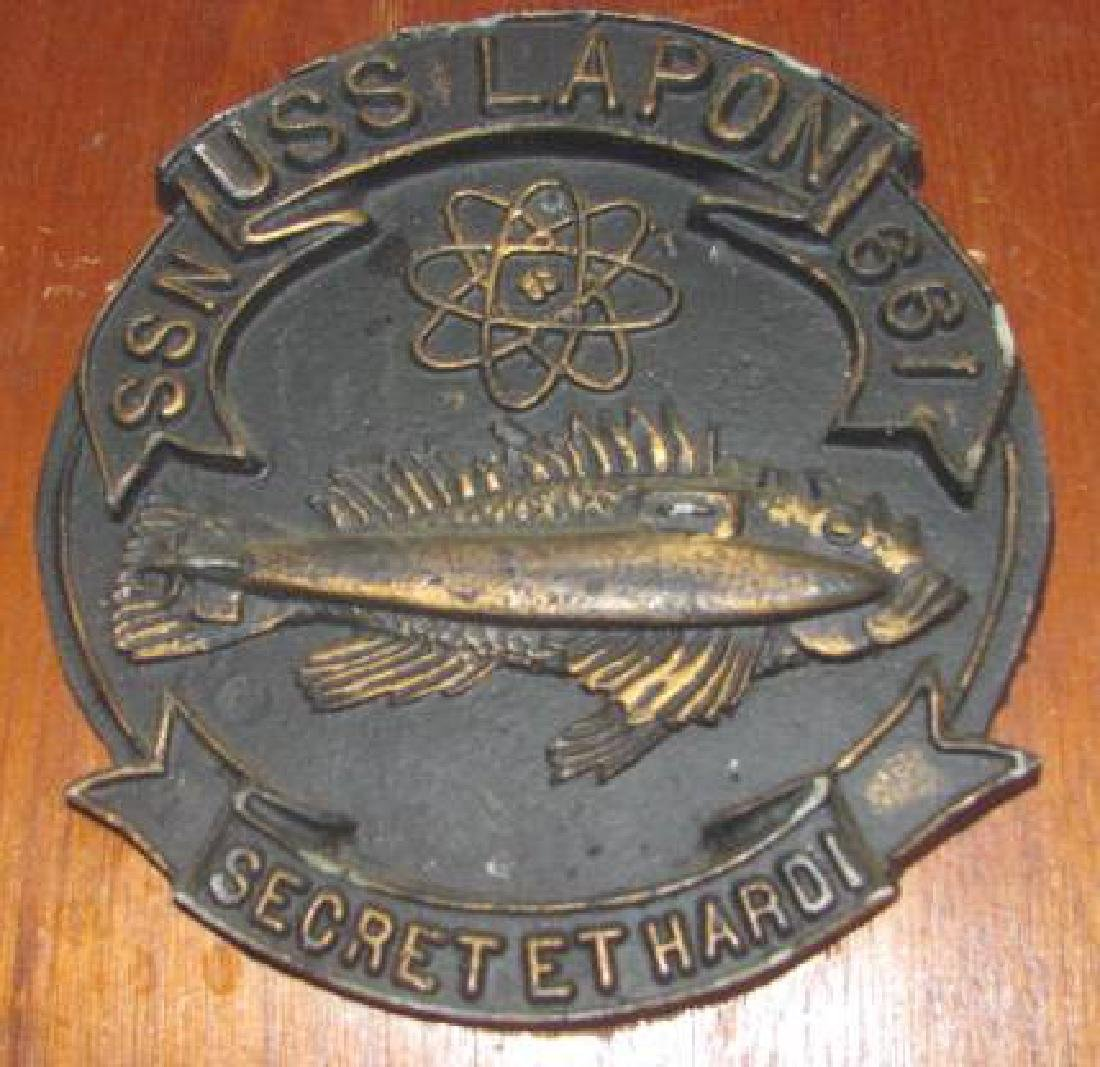 USS Lapon SSN Plaques - 2