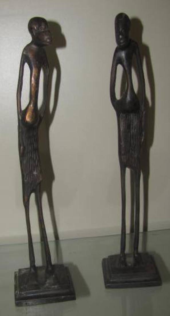 2 Bronze Figures
