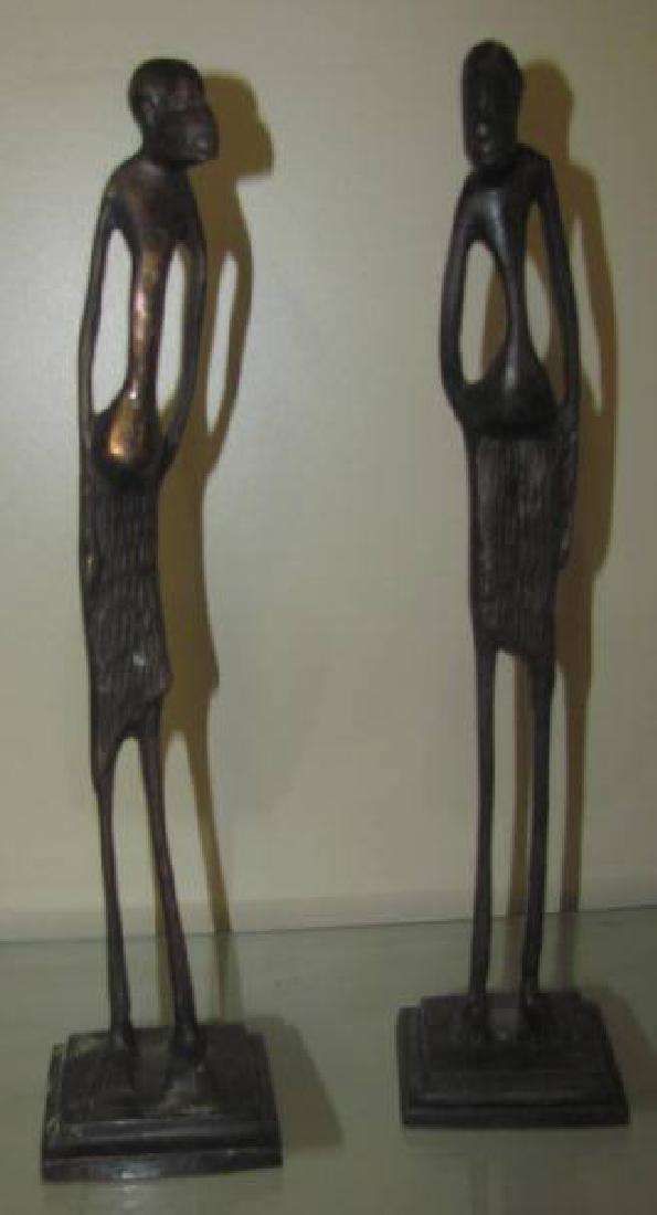2 Bronze Figures - 2