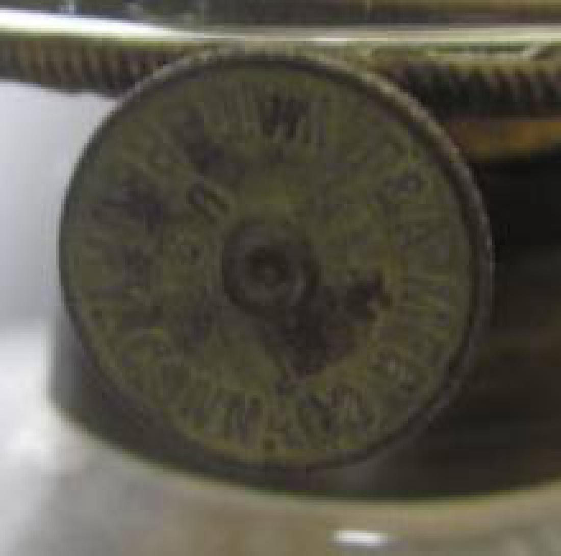 Early Kerosene Lamp Glass Font Drip Handle - 2