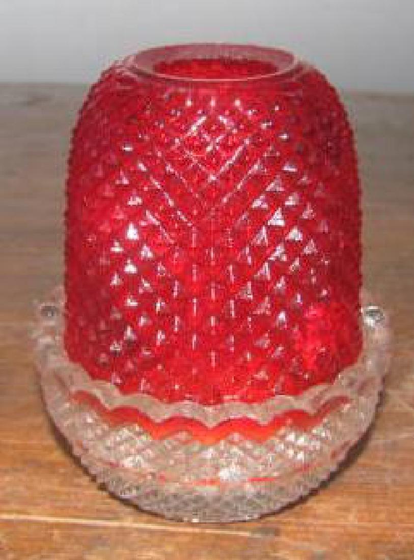 Clarke Fairy Pyramid Red Globe Lamp
