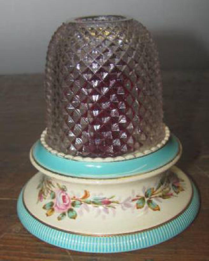 Hand Painted S. Clarke  Pyramid Lamp