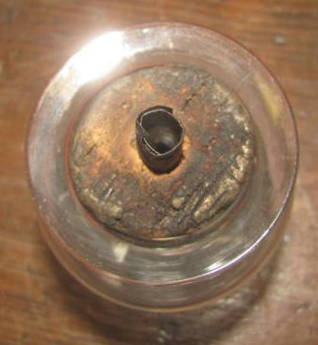 Blown Flint Funnel Base Lamp - 2