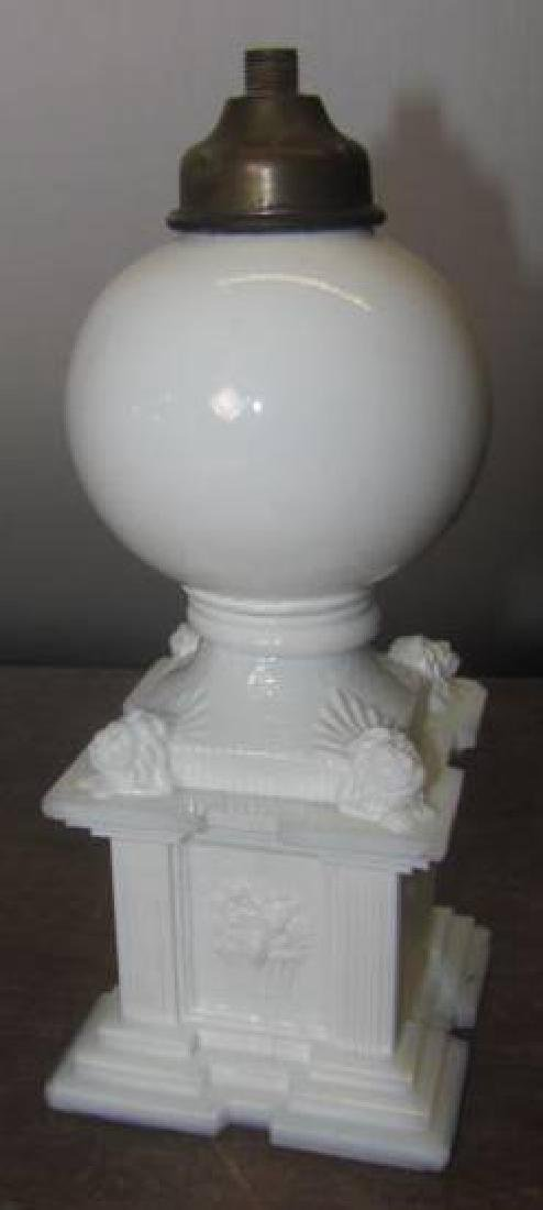 Opaque White Glass Fluid Lamp
