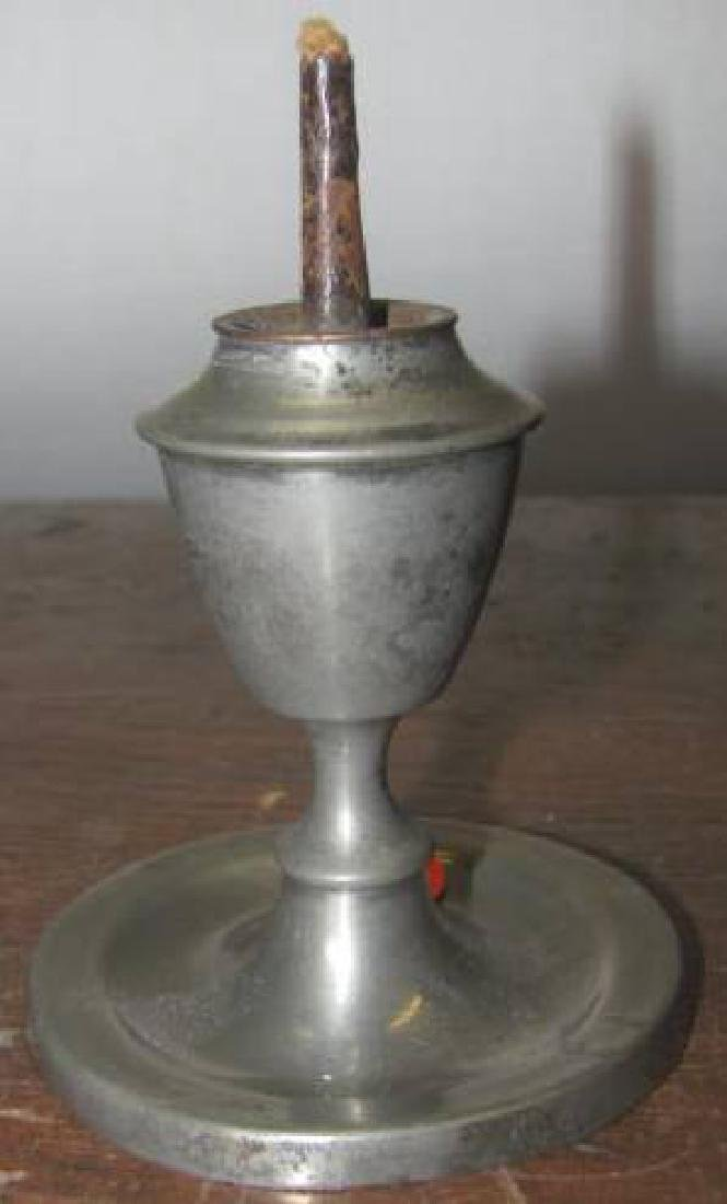 Pewter Whale Oil Lamp Small AM