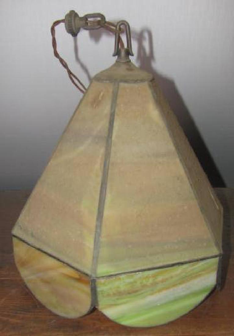 Slag Glass Hall Lamp