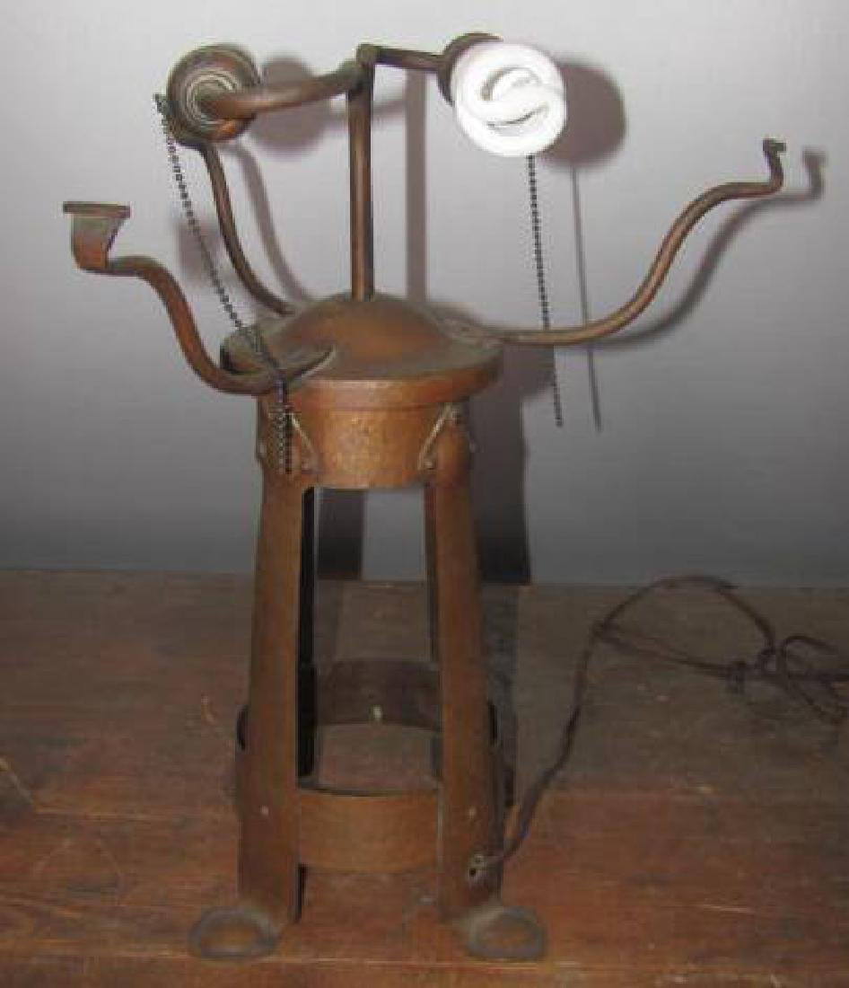 Hammered Copper Arts & Crafts Style Lamp - 2