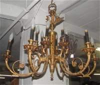 Heavy Brass Chandelier