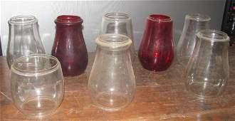 7 Railroad / Barn Lantern Globes