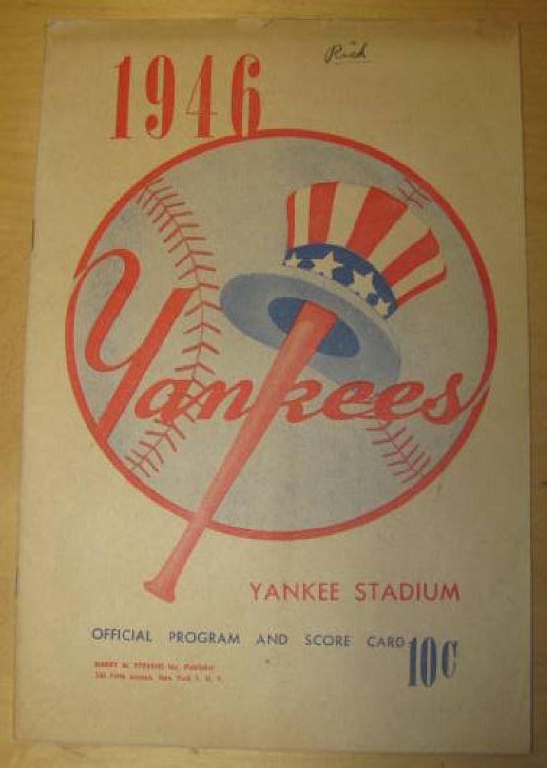 1946 New York Yankees Program & Ticket Stub