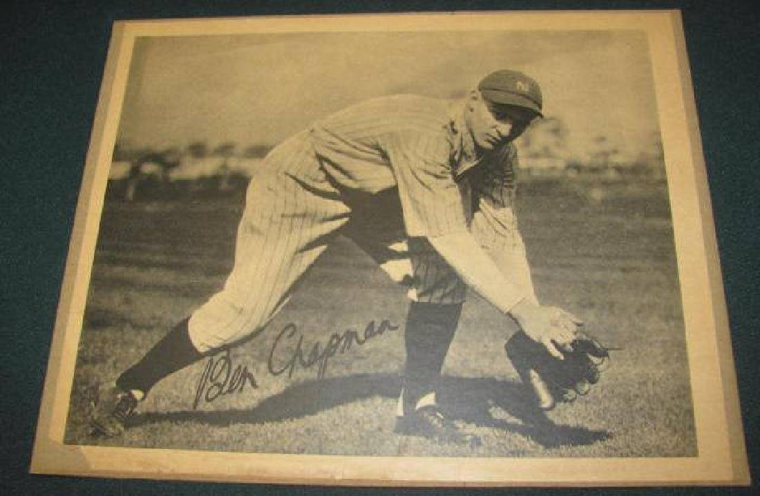 Ben Chapman Yankees Baseball Picture