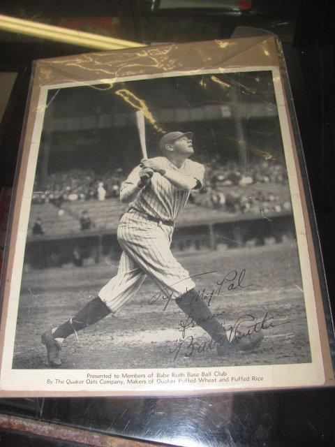 Babe Ruth Fan Club Photo