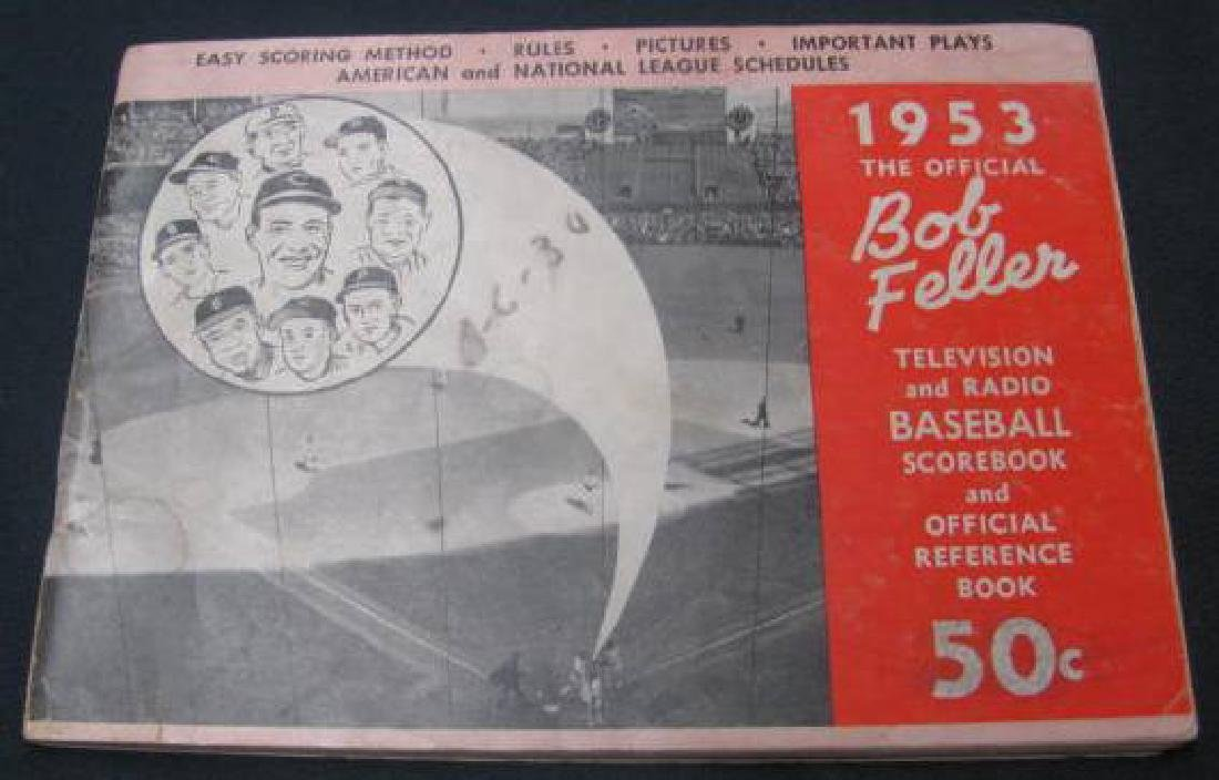 1953 Bob Feller Baseball Scorebook