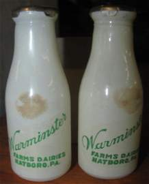 Warminster FarmsMilk Bottle Salt & Pepper