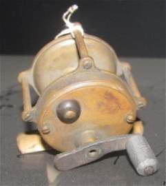 Antique Hendryx Brass Fishing Reel
