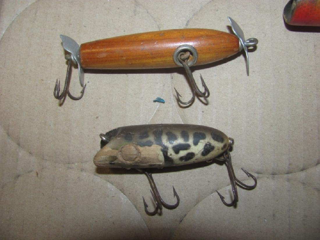 8 Antique Wooden Fishing Lures - 4