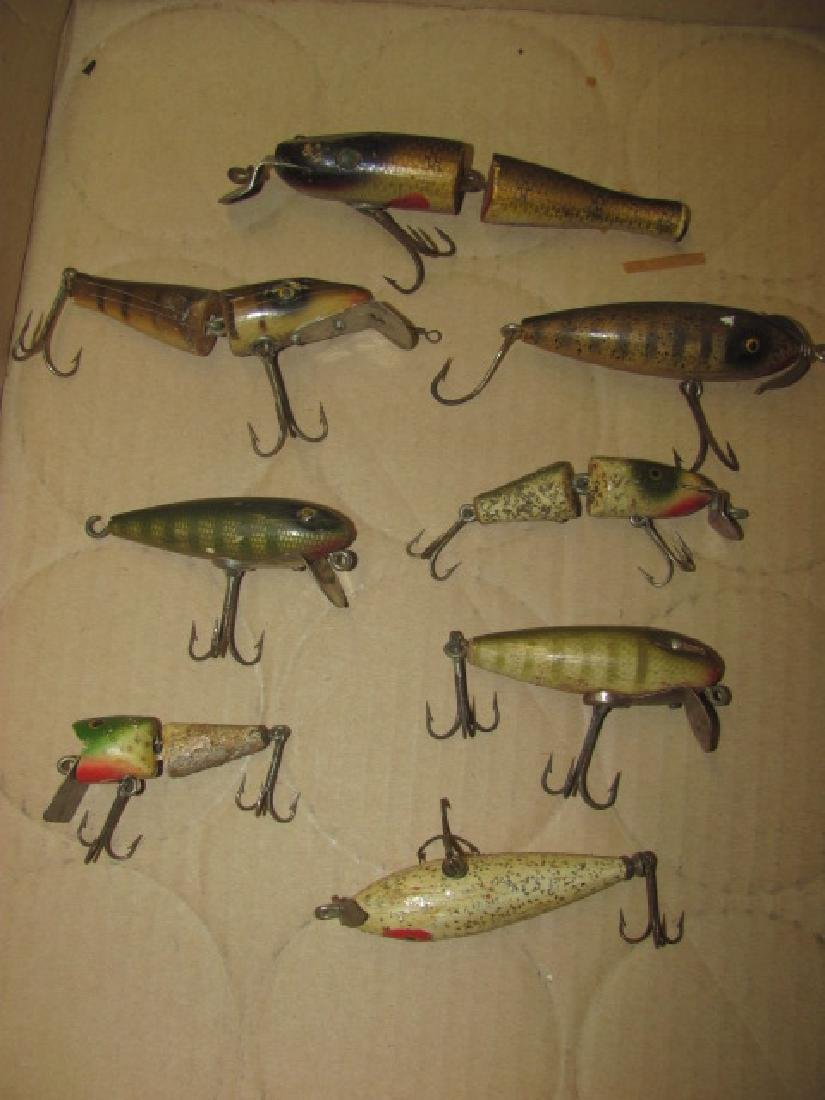 8 Antique Wooden Fishing Lures
