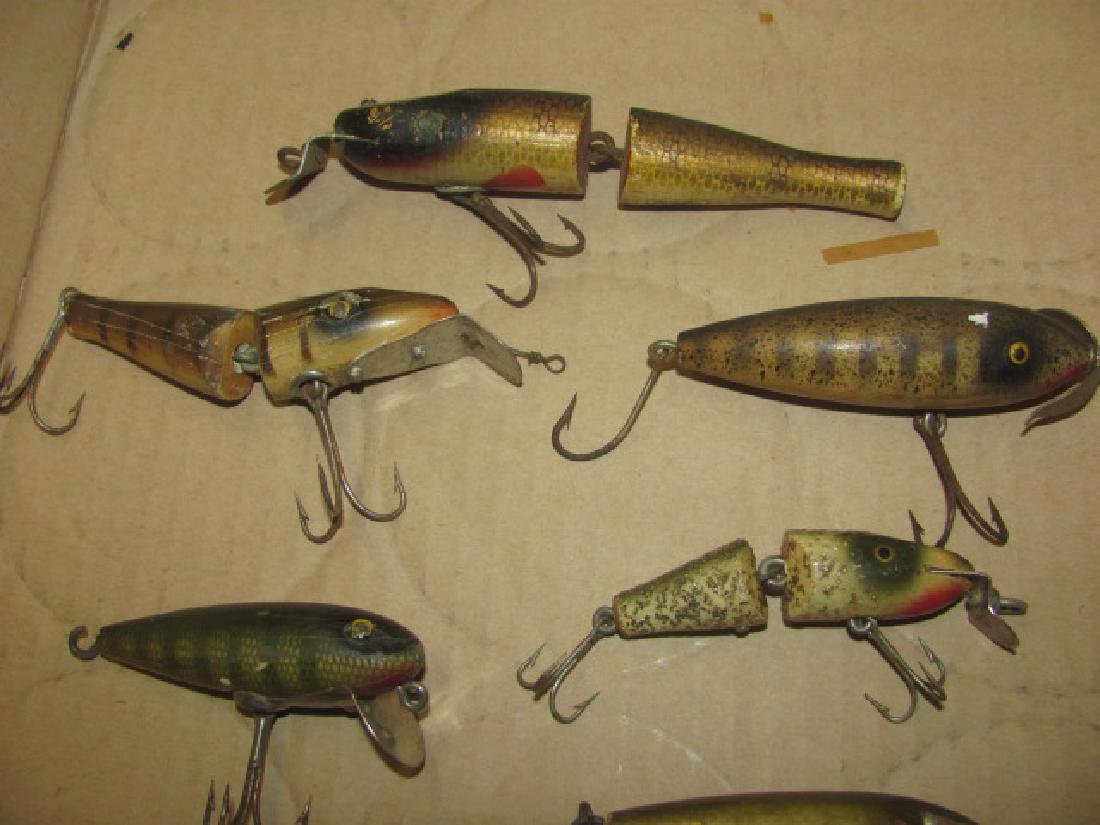 8 Antique Wooden Fishing Lures - 2